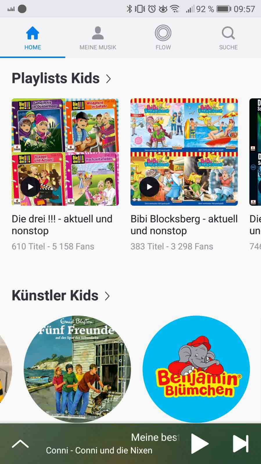 Deezer Family auf Reisen - Kids Profil Screenshot
